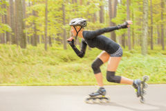 Roller skater in action Royalty Free Stock Photos