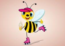 Roller skater Bee Stock Photo