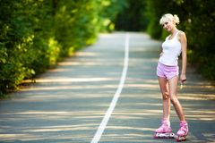 Roller skater girl Stock Photography