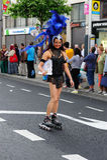 A Roller Skater at LGBT Pride Parade stock photos