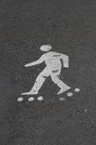 Roller skater sign royalty free stock image