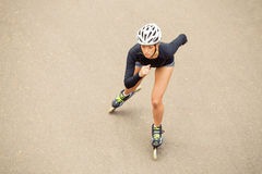 Roller skater working out Royalty Free Stock Photo