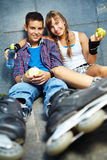 Roller skaters Royalty Free Stock Photos