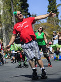 Roller Skaters at St. Patricks Day Parade and Fest. SAN DIEGO, CA, USA – MARCH 16, 2013: Roller Skaters at St. Patricks Day Parade and Festival on March 16 Stock Photography