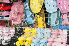 Roller skates. And Safety helmet royalty free stock image