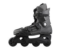 Roller Skates Black and grey Royalty Free Stock Image