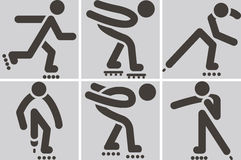 Roller skates icons Stock Photos