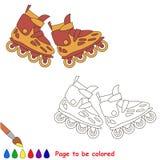 Roller skates. Kid children game. Stock Image