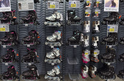 Roller skates in the store Royalty Free Stock Photography