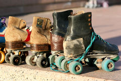 Roller Skates in the Sunset. Montevideo Royalty Free Stock Photo