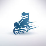 Roller skates symbol Stock Image
