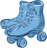 Roller Skates Vintage Etching Royalty Free Stock Images