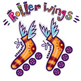 Roller skates with wings Stock Images