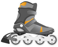Roller Skating. Boot on the white Royalty Free Stock Image