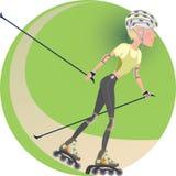 Roller skating vector illustration