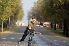 Roller skating Stock Images