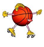 Roller Skating Basketball Stock Photo