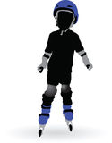 Roller Skating Boy Royalty Free Stock Image
