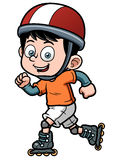 Roller Skating Boy Stock Photo