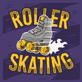Roller Skating Design With A Classic Model Roller Skate. Vector Graphic stock illustration