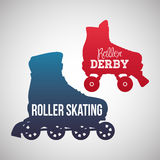 Roller skating design Royalty Free Stock Images