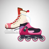Roller skating design. Roller skating concept with icon design, vector illustration 10 eps graphic Stock Photography