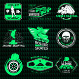 Roller Skating Emblems Stock Image
