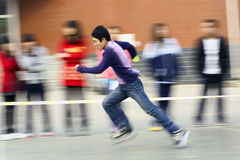 Roller skating game Royalty Free Stock Photography