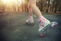 Roller skating Stock Photography