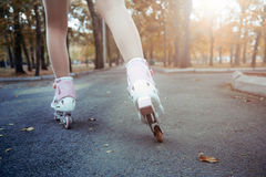 Roller skating Royalty Free Stock Photography