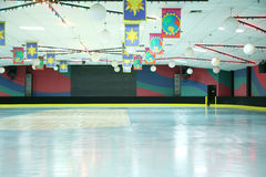 Roller skating rink. Empty roller skating rink background waiting for the fun to begin Royalty Free Stock Photos