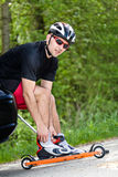 Roller skiing Royalty Free Stock Image