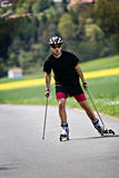 Roller skiing Royalty Free Stock Photography