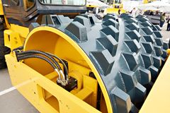 Roller soil compactor Stock Photography