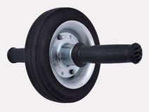 Roller wheel for abdominals on a white. Background Royalty Free Stock Image