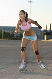 Roller woman Stock Photo