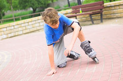 Roller Young Boy Royalty Free Stock Images