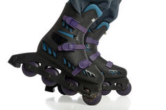 Rollerblade adjustment Stock Photos