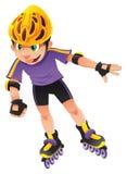 Rollerblade boy. Illustration, cartoon character Stock Images