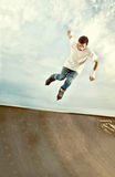 Rollerblade Hang time Royalty Free Stock Images