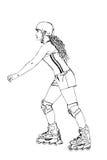 rollerblader stock illustrationer