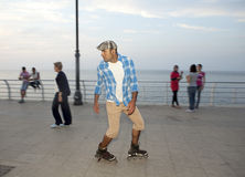 Rollerblader, Beyrouth Photos libres de droits