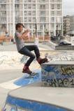 Rollerblader del adolescente Fotografía de archivo