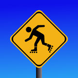 Rollerbladers ahead sign Royalty Free Stock Photography