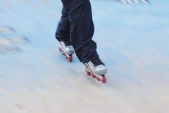 rollerblades σκέιτερ Στοκ Φωτογραφία