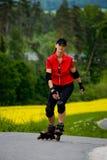 Rollerblades для девушок стоковое изображение