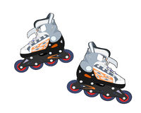 Rollerblades royalty-vrije illustratie