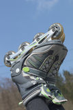 Rollerblades against a blue sky Stock Images