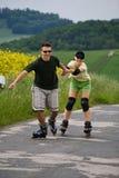 Rollerblades dla dwa 2 Obraz Royalty Free