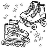 Rollerblades and rollerskates vector Stock Image